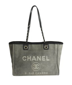 Chanel Canvas Tote in Grey