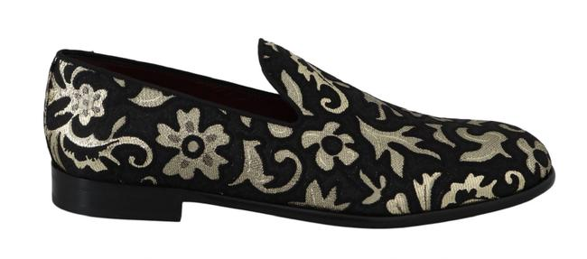Dolce&Gabbana Black and Gold Jacquard Loafers Dress Dolce & Gabbana Formal Shoes Size US 10 Narrow (Aa, N) Dolce&Gabbana Black and Gold Jacquard Loafers Dress Dolce & Gabbana Formal Shoes Size US 10 Narrow (Aa, N) Image 1