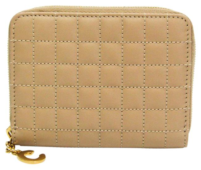 Item - Beige Charm Quilting 10b663bfl Women's Leather Coin Purse/Coin Case Wallet