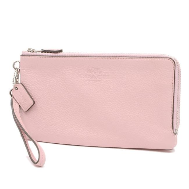 Item - Pink Long L-shaped Fastener Double Zip Leather F53561 Wallet