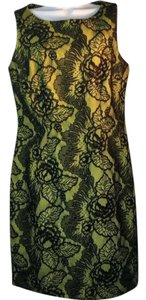 AGB short dress Black Yellow Lace Career Formal on Tradesy