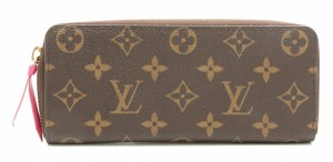 Louis Vuitton LOUIS VUITTON Louis Vuitton Monogram Portefoille Clemence Round Zipper Long Wallet Hot Pink M42119