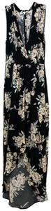 Multi Maxi Dress by ASTR Sleeveless Floral Open Wrap