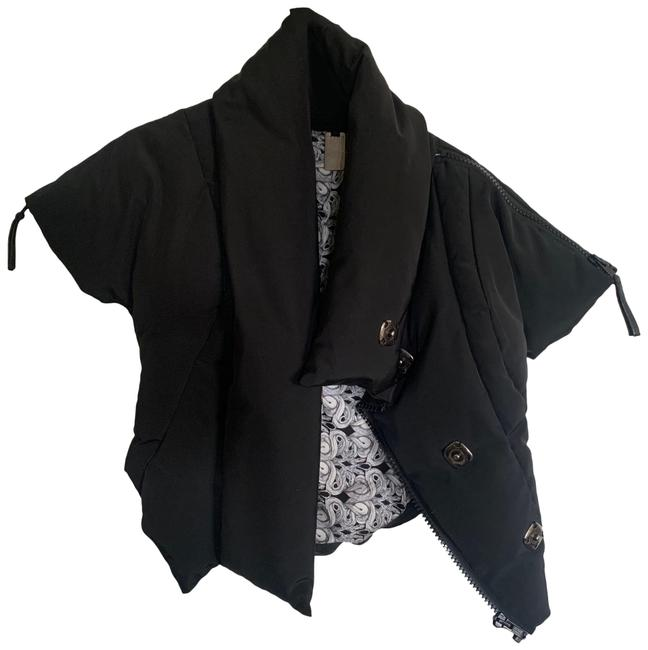 Item - Black Cropped Puffer Coat Size 6 (S)