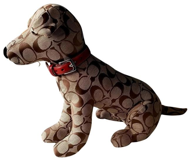 Item - Brown Signature C Dog with Red Dog Collar