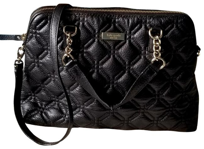 Item - Astor Court Small Rachelle Wkru2653 Black Quilted Leather Satchel