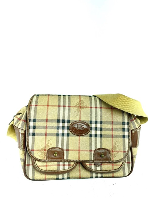Item - Camera Case Crossbody Nova Check 2b626 Beige Coated Canvas Messenger Bag