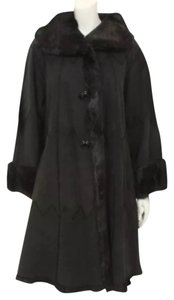 NOI Firenze Suede Fur Fur Real Fur Fur Coat