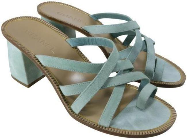 Item - Mint Roman New Greek Suede Light Green B630 10m Sandals Size EU 40.5 (Approx. US 10.5) Regular (M, B)