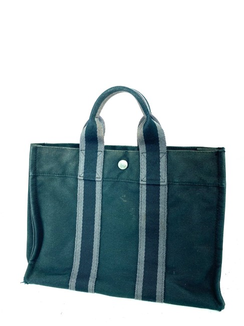 Item - Fourre Tout Pm Striped Grey 13her0 Navy Canvas Tote