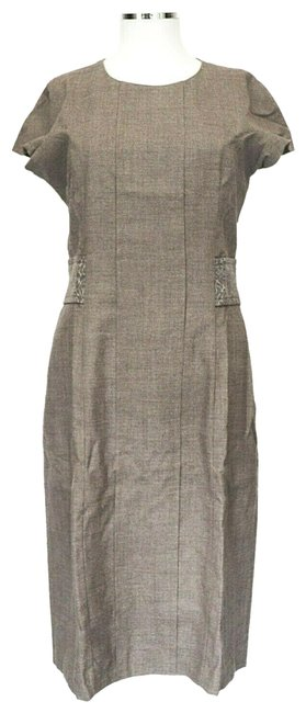 Item - Taupe Wool It 44 Work/Office Dress Size 8 (M)