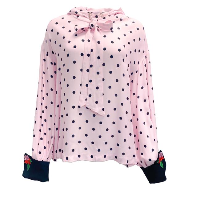 Item - Pink Polka Dot with Hood Blouse Size 6 (S)