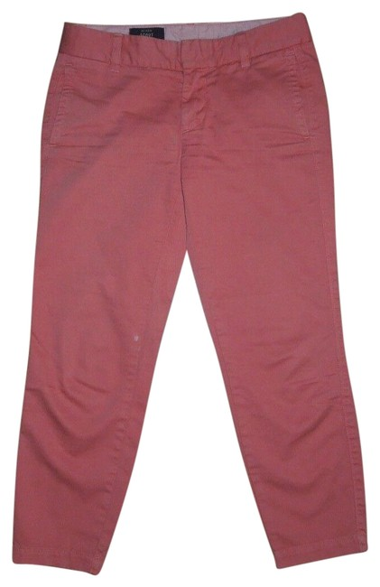 Item - Coral/Orange Scout Women's Cropped Casual Straight Leg Pants Capris Size 0 (XS, 25)