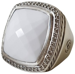 David Yurman David Yurman Albion 20mm white Agate Diamond Ring