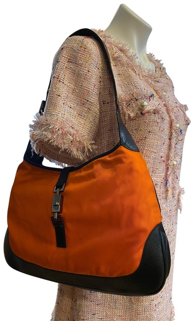 Item - Jackie Vintage Orange Canvas Hobo Bag