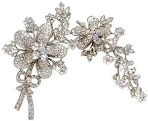 Kirks Folly Kirks Folly Double Swarovski Crystal Floral Brooch