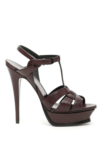 Item - Cigar Burgundy Tribute T-strap Sandal Platforms Size EU 35 (Approx. US 5) Regular (M, B)