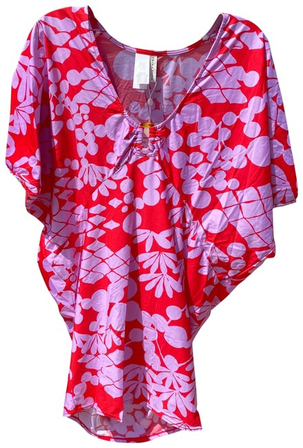 Item - Red L Spa Bali Blossoms Tunic Dress Lavender Cover-up/Sarong Size 12 (L)
