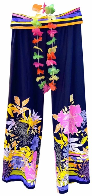 Item - Blue Multi Spa Collection Bal Harbour Pants S Retail Cover-up/Sarong Size 4 (S)