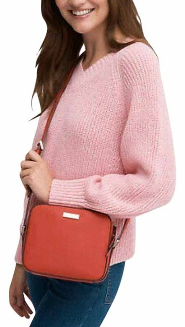 Item - Cammie Hot Chili Saffiano Red Leather Cross Body Bag