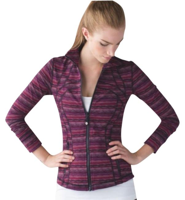 Item - Purple Pink Twist Define Space Dye Regal Plum Alarming Activewear Outerwear Size 4 (S)