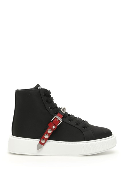 Prada Multicolored Hi-top Studded Strap Sneakers Size EU 39 (Approx. US 9) Regular (M, B) Prada Multicolored Hi-top Studded Strap Sneakers Size EU 39 (Approx. US 9) Regular (M, B) Image 1
