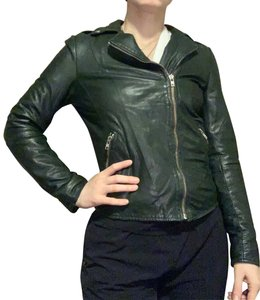 Muubaa Forest Green Leather Jacket