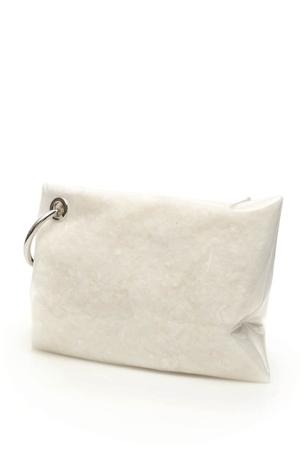 Moncler Basic Vanille Padded Pvc Pouch White Clutch Moncler Basic Vanille Padded Pvc Pouch White Clutch Image 3
