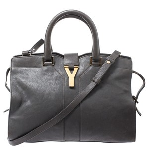 Saint Laurent Leather Detail Tote in Grey