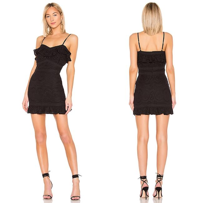 Lovers + Friends Black Leona Short Casual Dress Size 4 (S) Lovers + Friends Black Leona Short Casual Dress Size 4 (S) Image 1