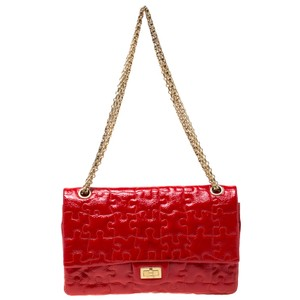 Chanel Patent Leather Leather Front Flap Chain Classic Shoulder Bag