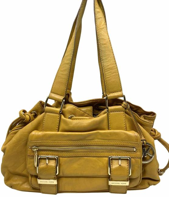 Item - Medium Yellow Leather Shoulder Bag