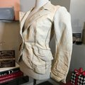 The People Of The Labyrinths Tan Distresed Blazerjacket Jacket Size 2 (XS) The People Of The Labyrinths Tan Distresed Blazerjacket Jacket Size 2 (XS) Image 4