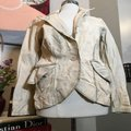 The People Of The Labyrinths Tan Distressed Blazer Jacket Size 4 (S) The People Of The Labyrinths Tan Distressed Blazer Jacket Size 4 (S) Image 3