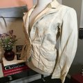 The People Of The Labyrinths Tan Distressed Blazer Jacket Size 4 (S) The People Of The Labyrinths Tan Distressed Blazer Jacket Size 4 (S) Image 7