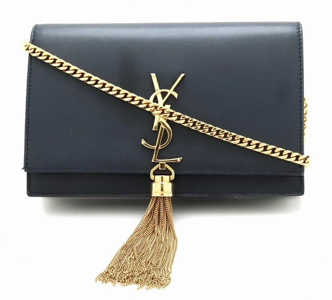 Item - Dark Navy Shoulder Bag Chain Paris Diagonal Hanging Fringe Leather Wallet