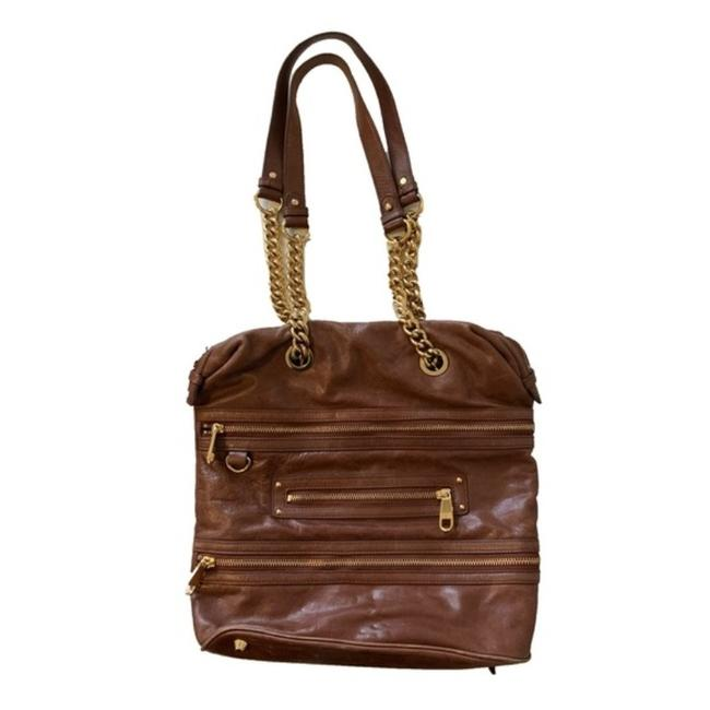 Item - Tote W XL Structured Handle Satchel/Tote W Straps Burgundy Leather/Gold Chain Satchel