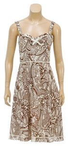 Laundry short dress Brown/Multicolor on Tradesy