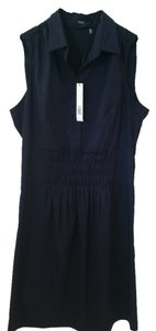 Elie Tahari short dress Dark Blue on Tradesy