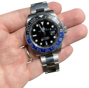 Rolex Rolex GMT II Batman Blue Black 116710BLNR Watch With Card
