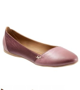 Bueno Collection Dusty Mauve Metallic Flats