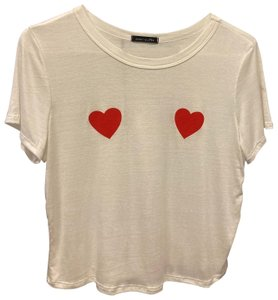 Sweet Claire T Shirt white w/ red hearts