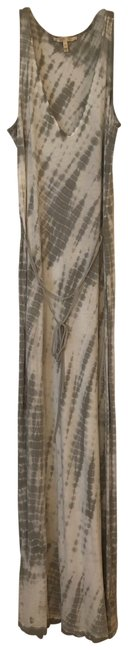 "Item - Grey White ""soft"" Long Casual Maxi Dress Size 8 (M)"