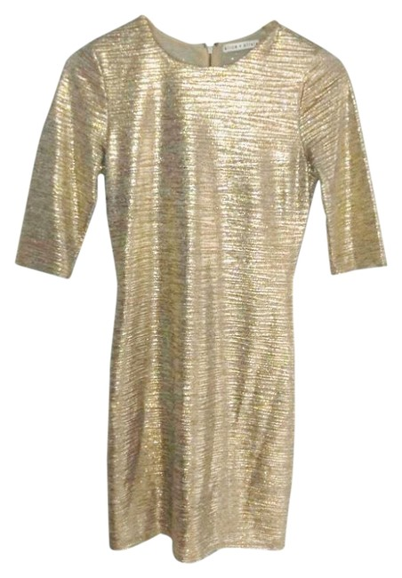 Item - Gold Brown Mid-length Short Casual Dress Size 6 (S)