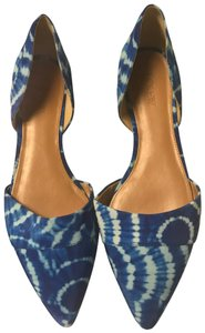 J.Crew Blue and White Tie-Die Flats