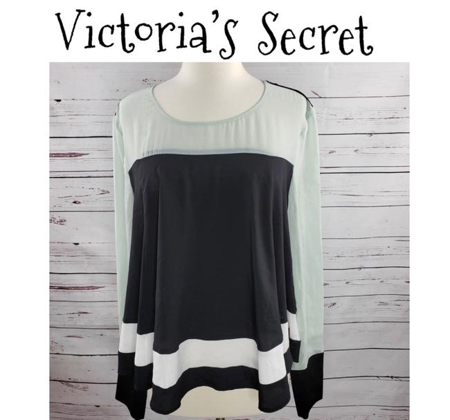 Item - Black/White/Green Blouse Size 4 (S)