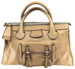 Chloé Satchel in Dark Tan