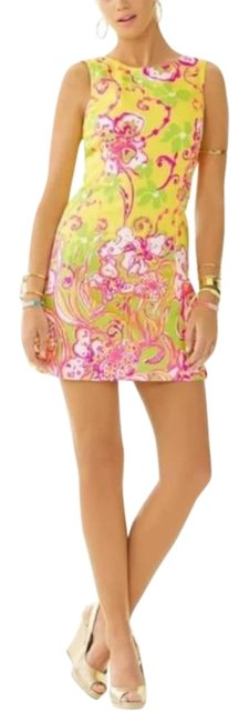 Item - Yellow Pink Delia Sunglow Southernmost Short Casual Dress Size 0 (XS)