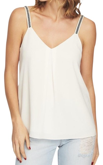 Item - Ivory Gypsy Night Embroidered Straps Tank Top/Cami Size 12 (L)