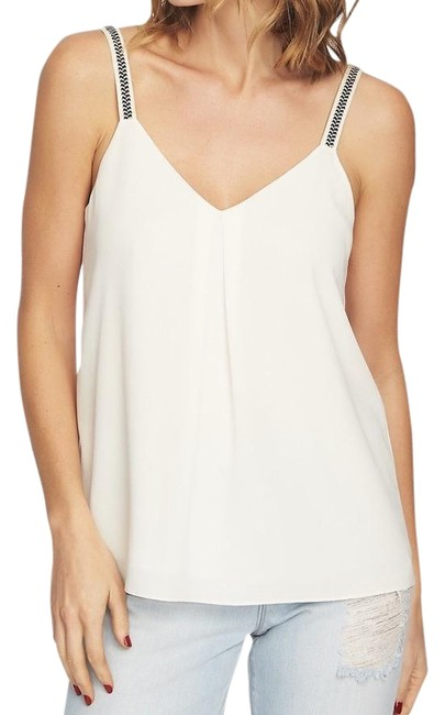 Item - Ivory Gypsy Night Embroidered Straps Tank Top/Cami Size 8 (M)